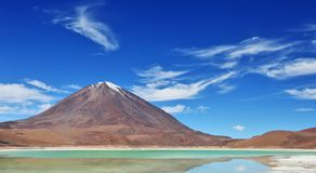火山Licancabur -玻利维亚 免版税库存图片