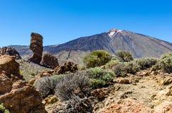 火山Pico在特内里费岛的El泰德峰 库存照片