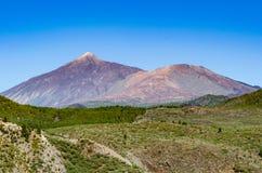 火山Pico El泰德峰和Pico Viejo 图库摄影