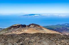 火山Pico Viejo的看法 免版税库存图片