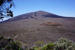 火山piton de la fournaise 免版税库存图片