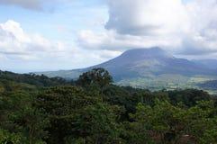 火山Poas,哥斯达黎加 库存照片