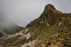 火山Sibayak的周围在苏门答腊海岛上的在印度尼西亚 免版税库存照片