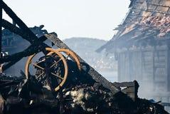 火废墟 免版税库存照片
