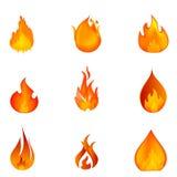 火形状 免版税库存照片