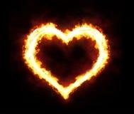 火心脏 库存照片