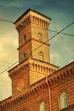 火手表塔在圣彼德堡 免版税库存照片