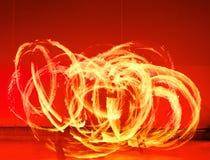 火执行的显示阶段 库存照片