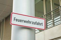 火抢救道路(Feuerwehrzufahrt) 免版税库存照片