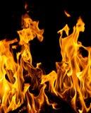 火抽象背景在黑背景发火焰 库存照片
