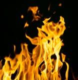 火抽象背景在黑背景发火焰 免版税图库摄影