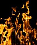 火抽象背景在黑背景发火焰 免版税库存照片