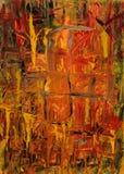 火抽象绘画  库存图片