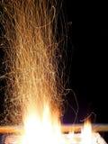 火摘要,火火焰纹理背景 免版税库存图片