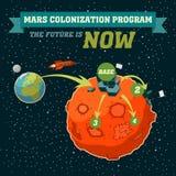 火星殖民化节目 库存图片