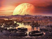 火星的早晨 免版税库存照片