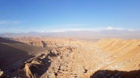 火星谷瓦尔de Marte,阿塔卡马沙漠,智利的岩石风景的看法  库存图片