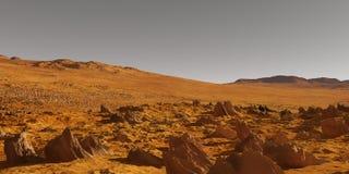 火星谷 免版税库存照片