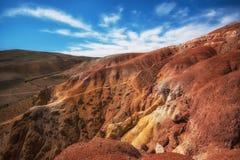 火星风景谷  免版税库存照片