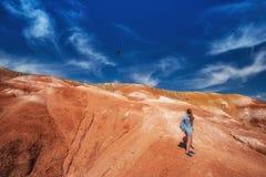 火星风景谷  免版税图库摄影