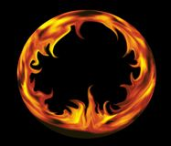 火框架 库存例证