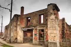 火毁坏的面包店的遗骸 免版税图库摄影