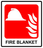 火毯子标志的标志 公共场所的传染媒介例证紧急标志 免版税图库摄影