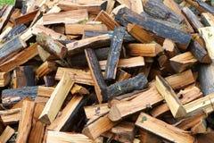 火水平的木头 库存照片