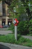 火水消防栓 免版税图库摄影