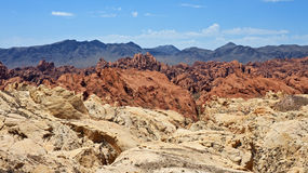 火波浪俯视,火国家公园谷  免版税库存照片