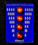 火测量仪级别卡车水 免版税库存照片
