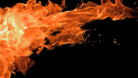 火浪花在超级慢动作出现的 股票录像