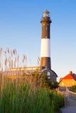 火海岛灯塔长岛NY 免版税库存图片