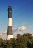 火海岛灯塔 库存照片