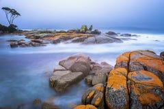 火海湾,塔斯马尼亚岛,澳大利亚 图库摄影