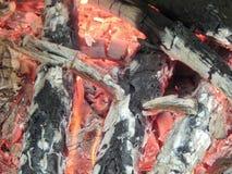 火火明亮的火焰的纹理  库存照片