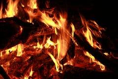 火火焰炭烬烧伤 免版税库存照片