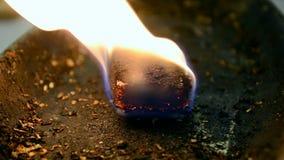 火火焰特写镜头,丙烷燃料变化, 股票视频