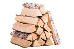 火灰色光记录woodpile的木头 免版税库存图片