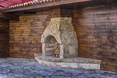 火炉壁炉,室外 库存图片
