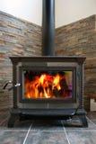 火炉木头 免版税库存图片