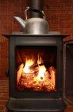 火炉木头 库存图片