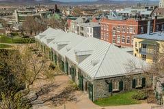 火炮公园建筑学在魁北克市 图库摄影
