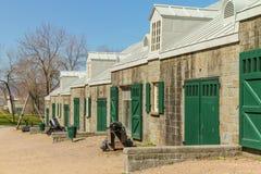 火炮公园营房在魁北克市 免版税库存图片