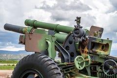 火炮大炮美国军队105mm M2 A2普式火车标准 图库摄影