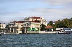 火炮海湾在塞瓦斯托波尔 乌克兰 库存照片