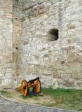 火炮-在埃格尔城堡,埃格尔匈牙利的武器装备 免版税库存照片