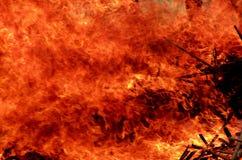 火烧伤木头 图库摄影