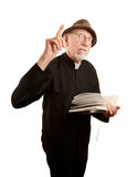 火热的产生的牧师布道 免版税库存图片