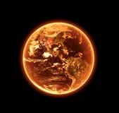 火热的地球 免版税库存照片